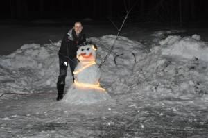 Building my Snowman!