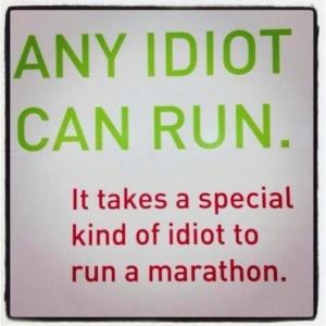 Marathon idiot