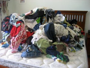 This is what my bed USUALLY looks like!