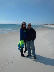 Walking the beach in FL