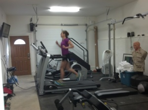 Danny loves taking pics of me on the treadmill!