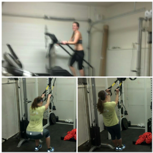 Blurry work-out pics!